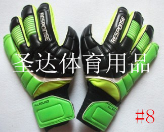 Free Shipping Thickening latex uhlsport professional goalkeeper gloves for brazuca football gloves(China (Mainland))