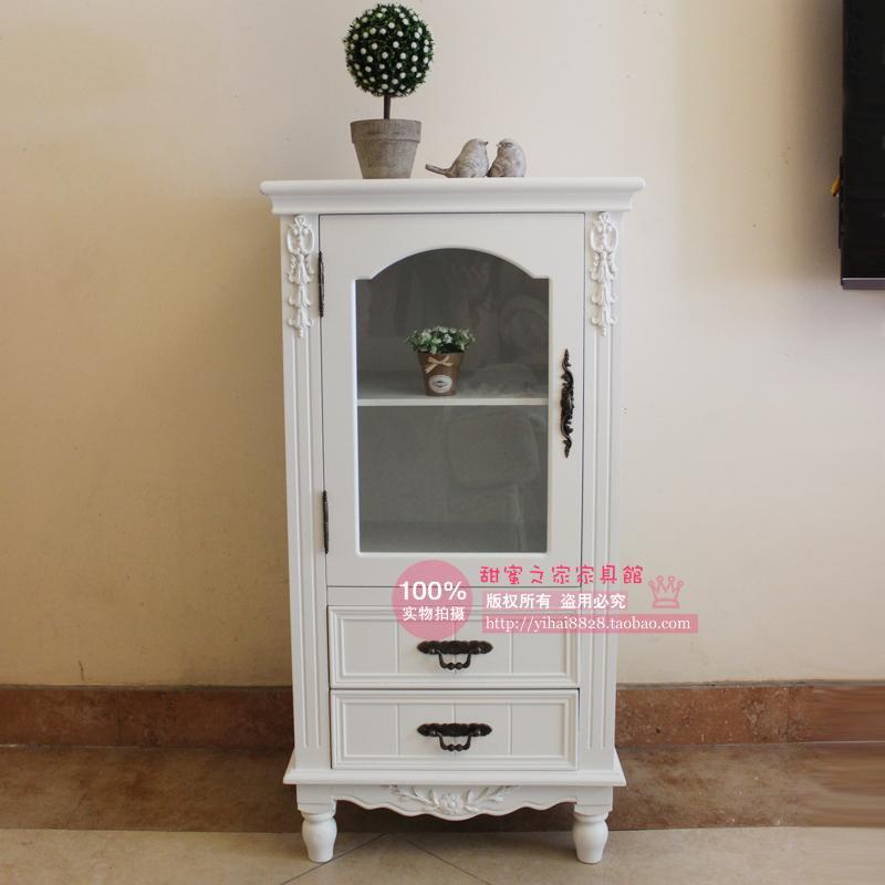 European-style garden white wood sideboard showcase vitrine Wine storage cabinets lockers Specials<br><br>Aliexpress
