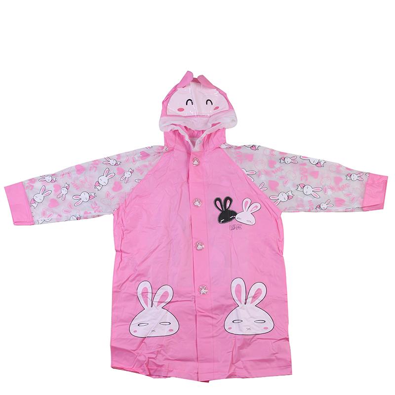 Hot Sale Rabbit Rain Gear New Kids Children Raincoat Rainwear Rainsuit High Quality Waterproof Kids Rain Poncho YWW7(China (Mainland))