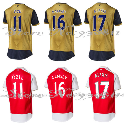 15-16 Best Thai Quality Home Away Arsenals custom name united Soccer jersey(China (Mainland))