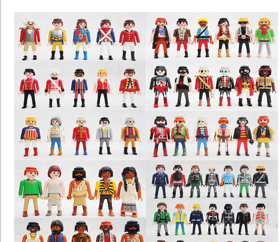 Free Shipping 10pcs pack Playmobil Knights figures random castle child Toy playmobil toys