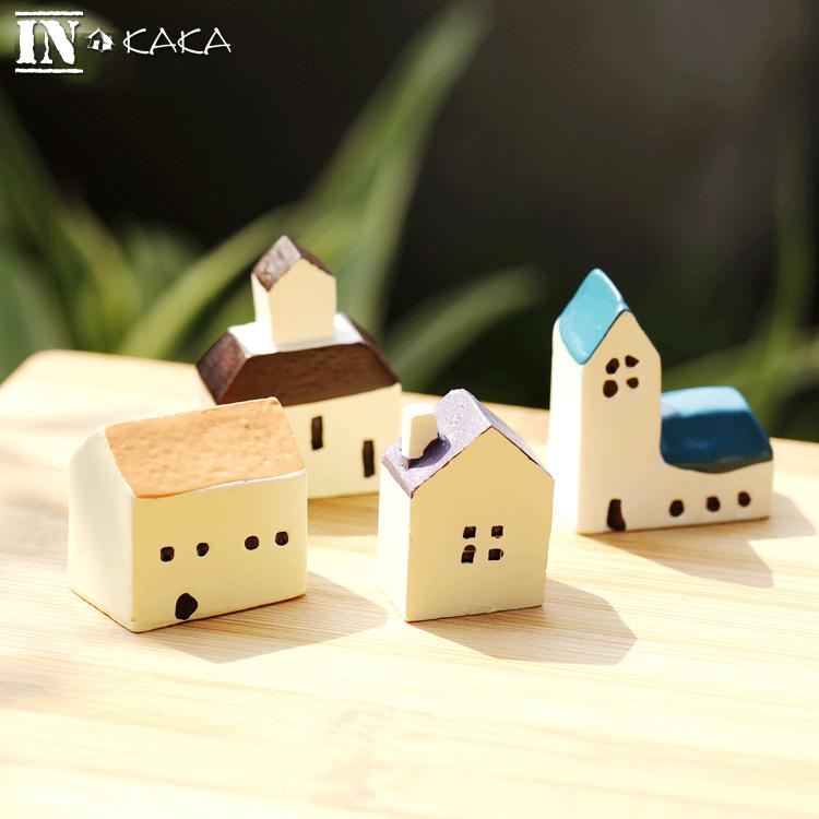 Cute Small Mini House Church Model Terrariums Ornaments Statue Micro Fairy Garden Decoration Miniature Figurine DIY Accessories(China (Mainland))