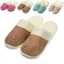 New Autumn and Winter Warm Men & Women Lovers Patchwork Soft Cotton-padded  at Home Slippers Indoor Shoes NEW SHOP BIG SALE