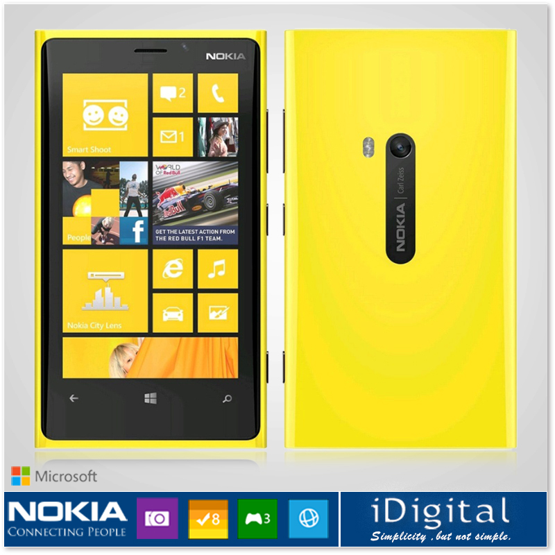 Unlocked Original Nokia Lumia 920 Windows Phone 4.5'' IPS 1280*768px Dual-Core 1.5GHz 32GB Camera 8.7MP GPS WIFI 3G Smartphone(China (Mainland))