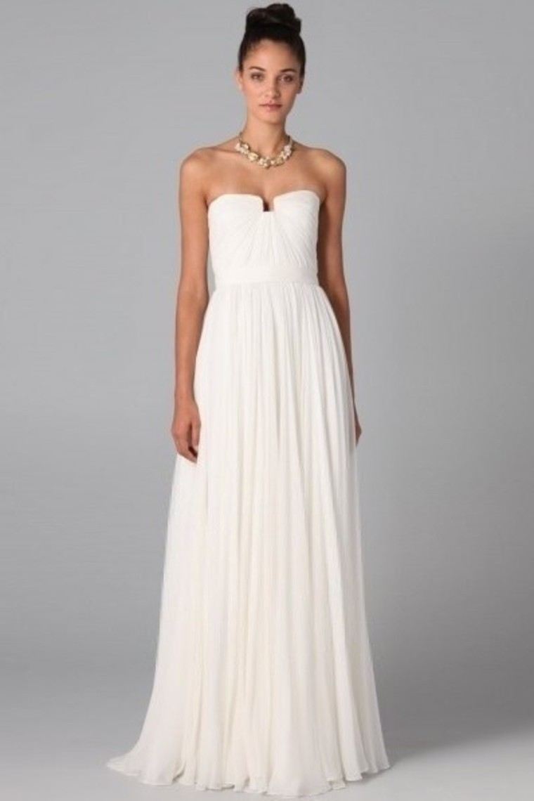 Buy ivory strapless floor length chic for Dresses for wedding bridesmaid