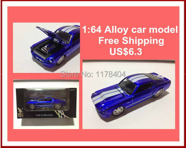 Ford Mustang,1:64 famous car toys, baby toys, slide toys, promotional price,alloy classic cars with box(China (Mainland))