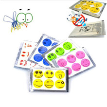 30Pcs repellent against mosquitoes sticker patch smiling face insect repellent cartoon anti mosquito killer sticker(China (Mainland))