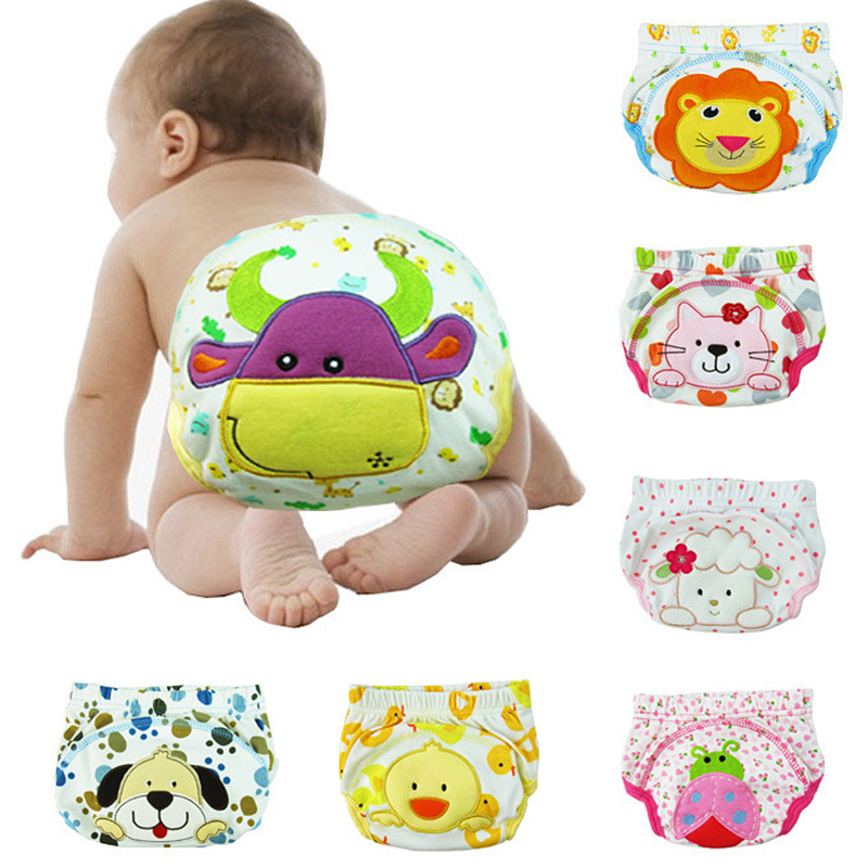 5pcs/lot Baby/Infant Cotton Waterproof Reusable Nappy Diaper Training Pants Briefs Boy Girl Underwear washable#YE1004(China (Mainland))