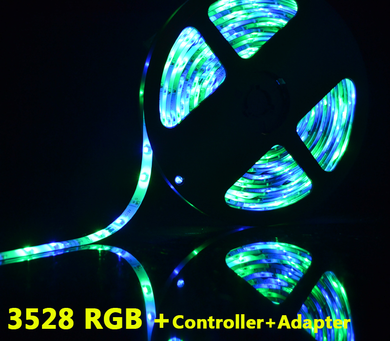 Led Light Rgb Smd 3528 Led Strip 5m Fita De Led For Home Holiday Decoration With Controller
