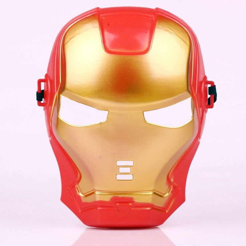 2016NEW Plastic Halloween Party Mask Holiday Party Mask Anime Iron Man Full-face Mask for Children Red Party Supply(China (Mainland))