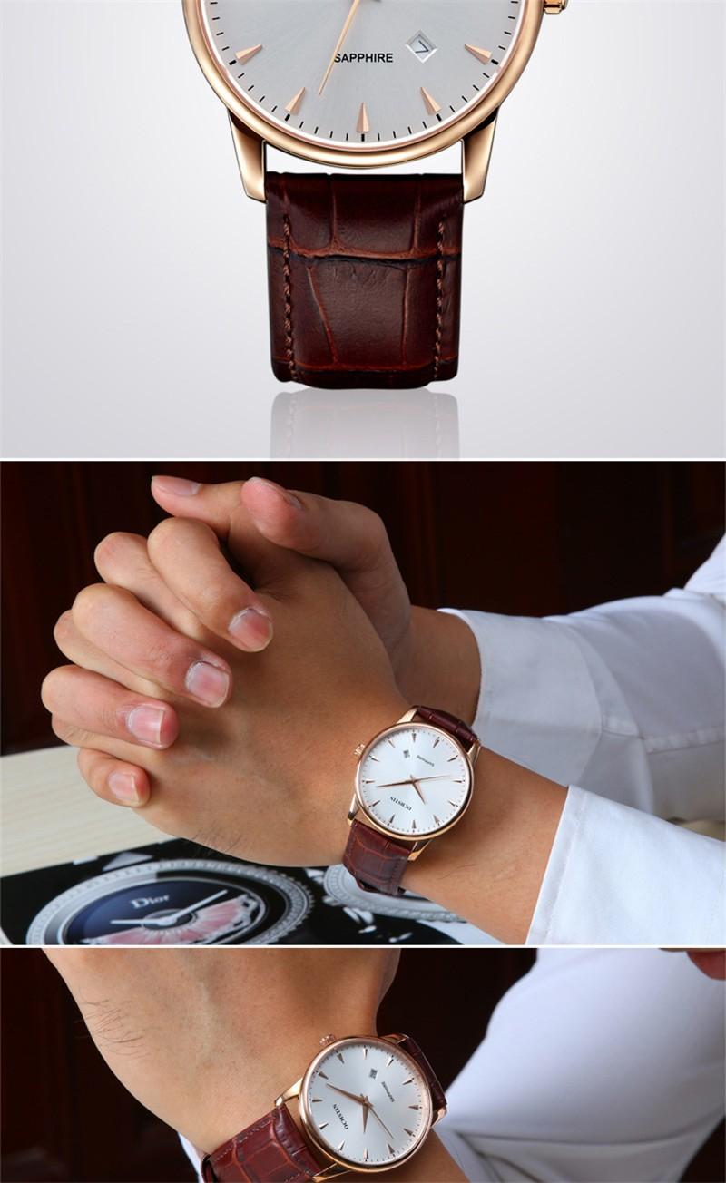 2016 Ochstin Новый Люксовый Бренд Простой Кварцевый Бизнес Часы Мужчины Военный Повседневная Кожа Мода Часы мужские Relogio Masculino