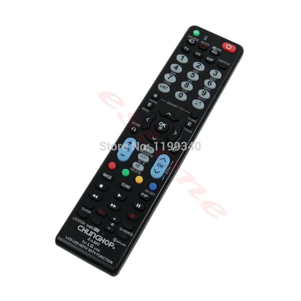 Neue Universal-Fernbedienung E-L905 Remote Control for LG Verwendung LCD LED HDTV 3DTV-Funktion Free shipping(China (Mainland))