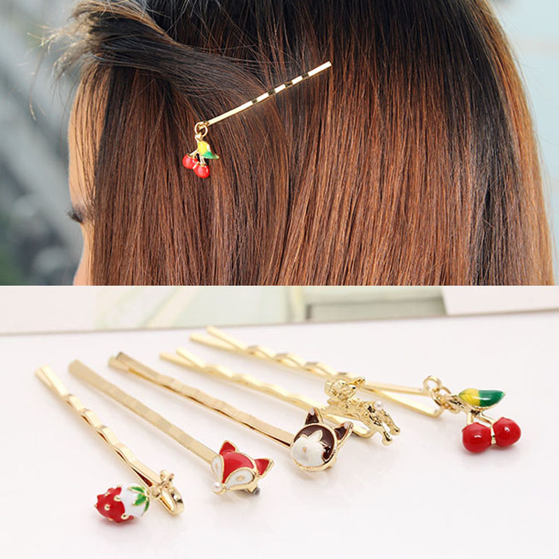 0052 Newest hot sale 2pcs/lot lovely cute hair pins for lady goody hair clip accessories(China (Mainland))
