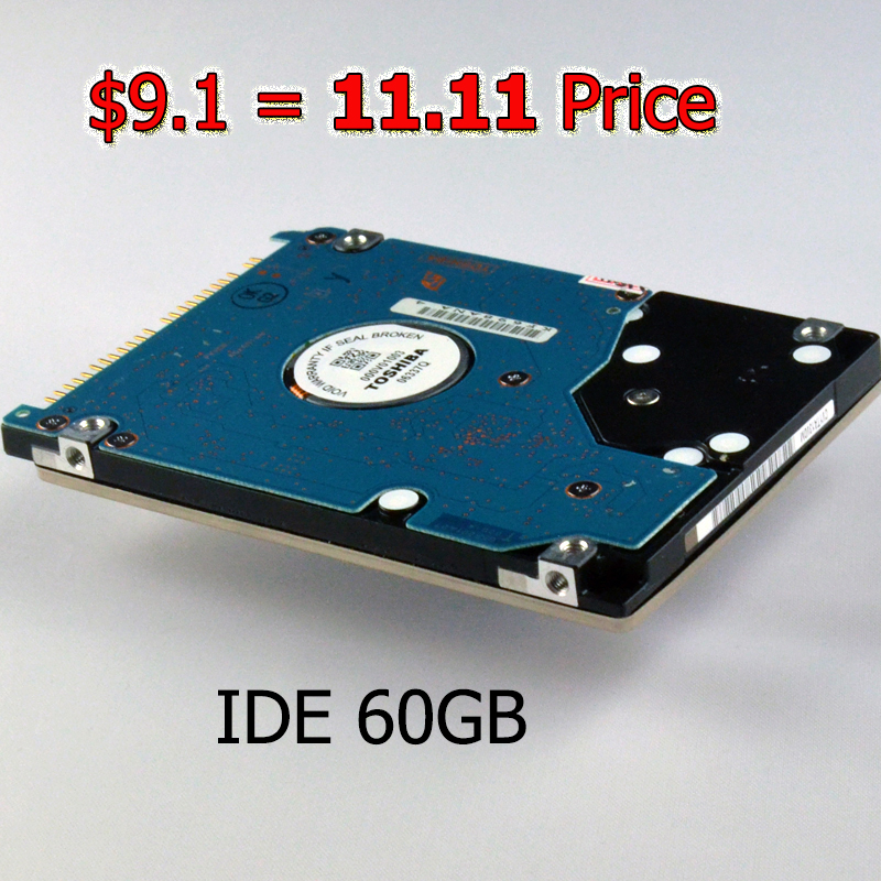 """$9.1 11.11 Price Starts Now HDD 60GB IDE 2.5 """" Laptop Internal Hard Drive Disk Desktop Drives for IOS Windows Computer(China (Mainland))"""