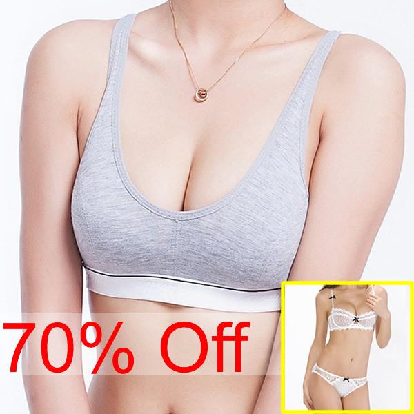 3 pcs /Lot ! A B Cup Spring Sexy Tops Women Bust Bra Push Up Seamless Cotton Sport Bra Sleeping Running Active Underwear