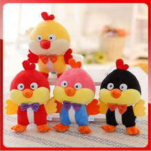 2016 New 20cm plush Toys For Children Fighting Cockerel Doll plush Toys Cockerels Wedding Halloween Gift Free Door x68