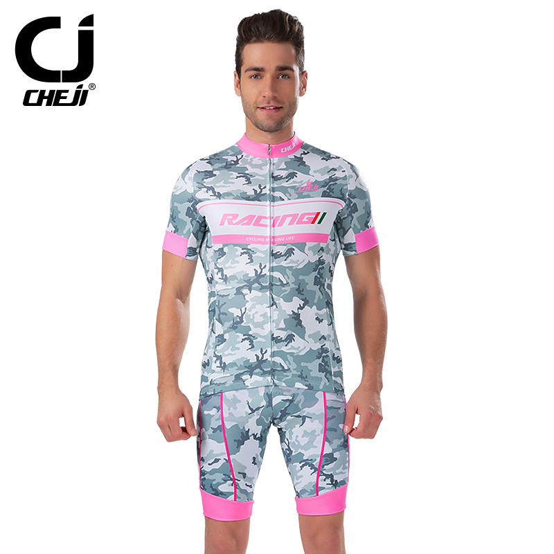 Hot Sales Cheji Men Cycling Jersey Set Professional Short Clothing set Bicycle Ciclismo Bicicleta Fitness - CHEJI CYCLING JERSEY store