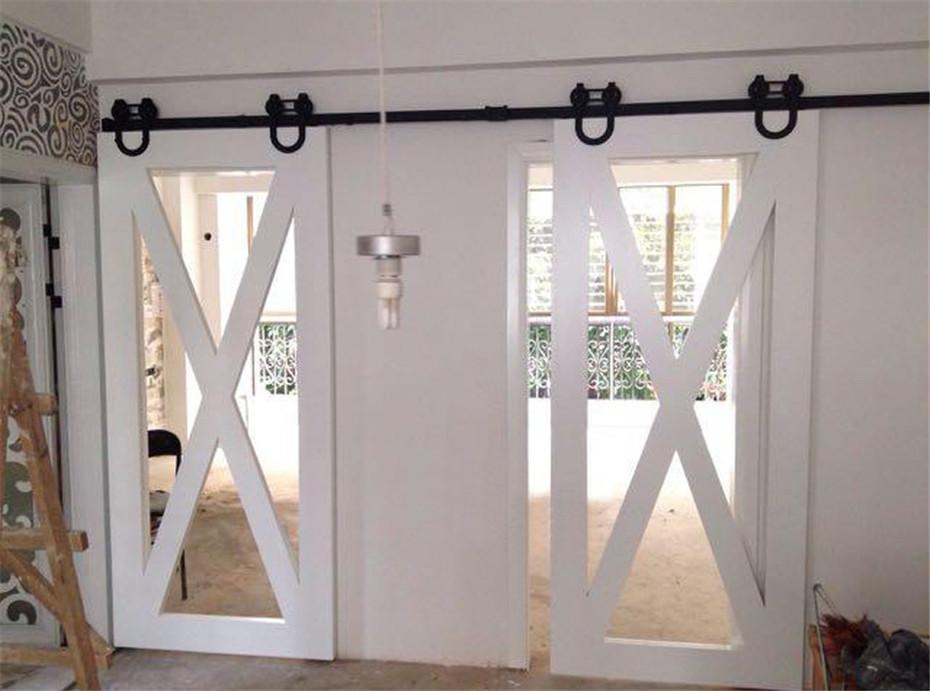 Online buy wholesale sliding barn door hardware kits from for 12 foot sliding barn door hardware