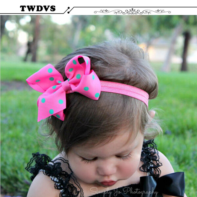 Flowers Children Baby Girls Hair Accessories Rubber Bands Barrettes Girl Headwear Bow Retail wholesale Boutique  w–005