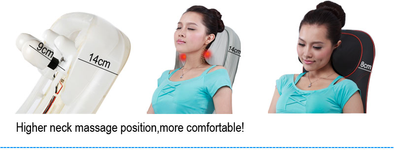 Eat Electric Massage Cushion with Heat Shiatsu Kneading Rolling Massager Electric Infrared Massager for Health Care 80260 cheap