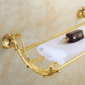 Luxury Bathroom Golden Towel Shelf Bathroom Towel Rack Home hotel Bathroom Commodity Shelf