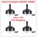 Cobra Motor CP2205 2300 2300Kv Free Shipping 4pcs lot Brushless Motor for Mini Drone Racing FPV