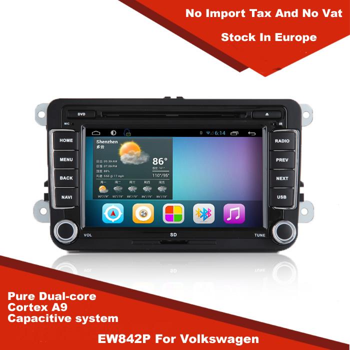 Europe warehouse Android 4.2 Car DVD Radio GPS Navi VW For PASSAT TIGUAN GOLF Polo Jetta MAGOTAN BORA CADDY TOURAN(China (Mainland))