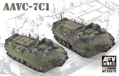 AFV model AF35S70 AAVC-7C1 Assault Amphibian Vehicle Command Model 7C1 <br>