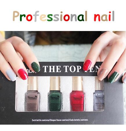 Nail Polish TEMIX 2015 New Hot Suit 5 five Bottles Authentic Healthy nails Art Easy Samba combination High gloss gel nail polish(China (Mainland))