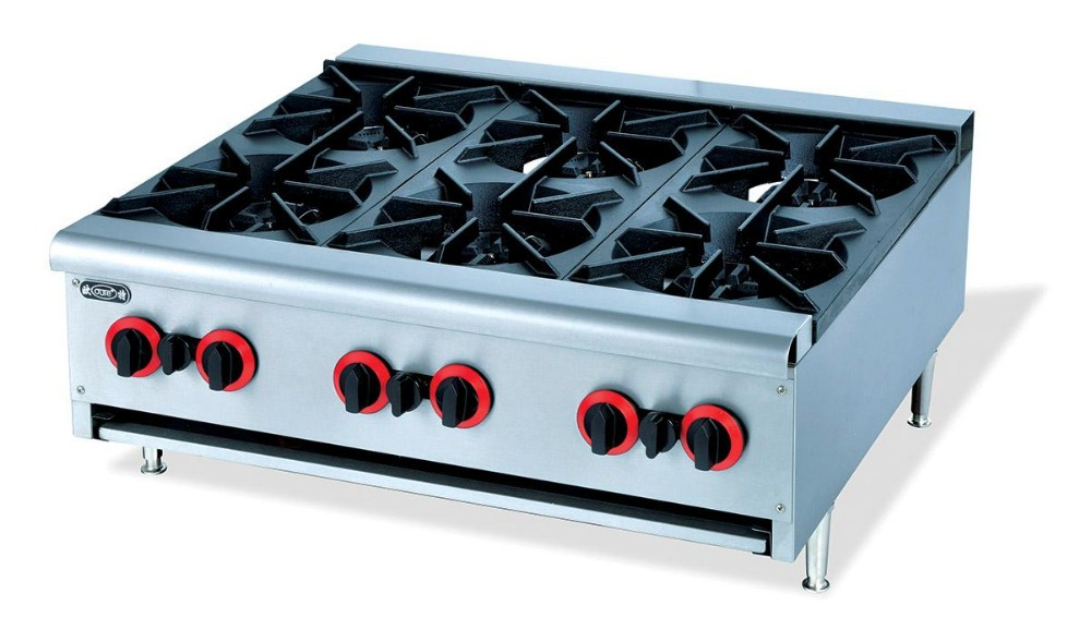 Countertop Gas Stove Price : Counter top 6 burner multi cooker gas stove cast iron six burners gas ...