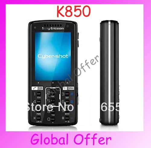 K850 Original unlocked Sony Ericsson K850i cell phones 3G 5MP Camera Bluetooth FM MP3 mobile phone 1 year warranty Refurbished(China (Mainland))