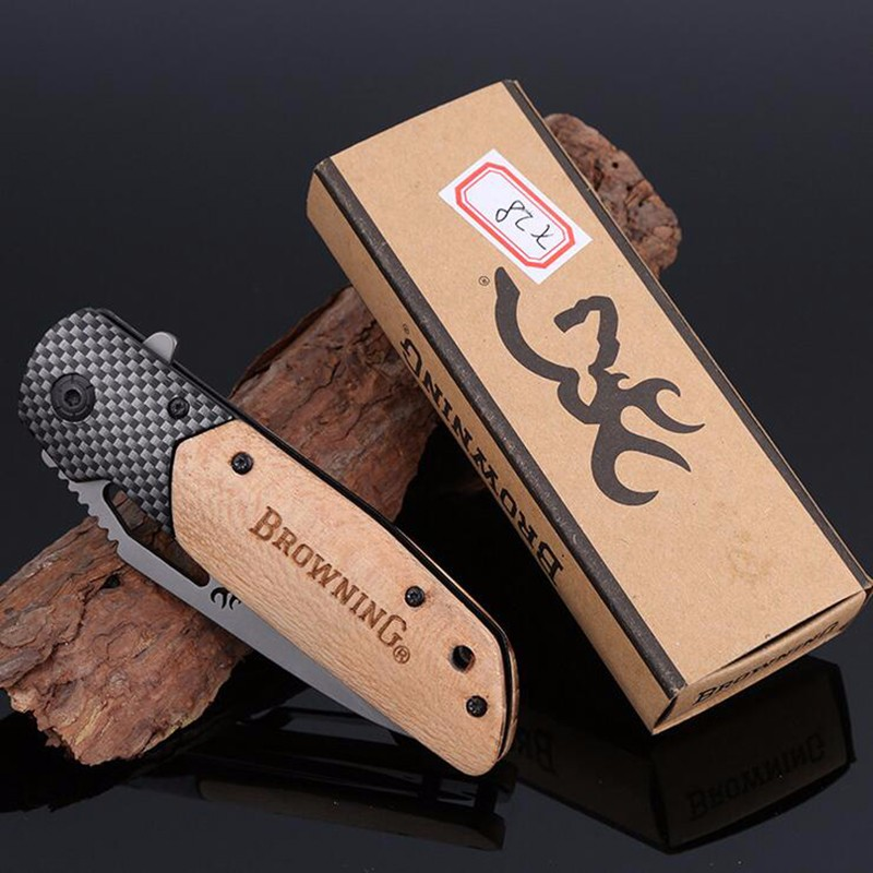 Buy BROWNING X28 multi-purpose tool small straight knife fixed tactical knife survival hunting knife handheld outdoor camping cheap
