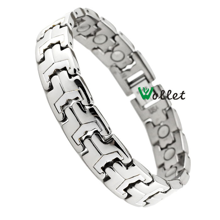 power energy new fashion men bracelet jewelry infrared germanium tourmaline men's bracelets titanium magnetic bracelet(China (Mainland))