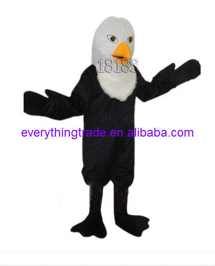 Hot sale 2014 Cartoon Character cute Authoritat Bald Eagle mascot Costume fancy dress party costume adult size(China (Mainland))