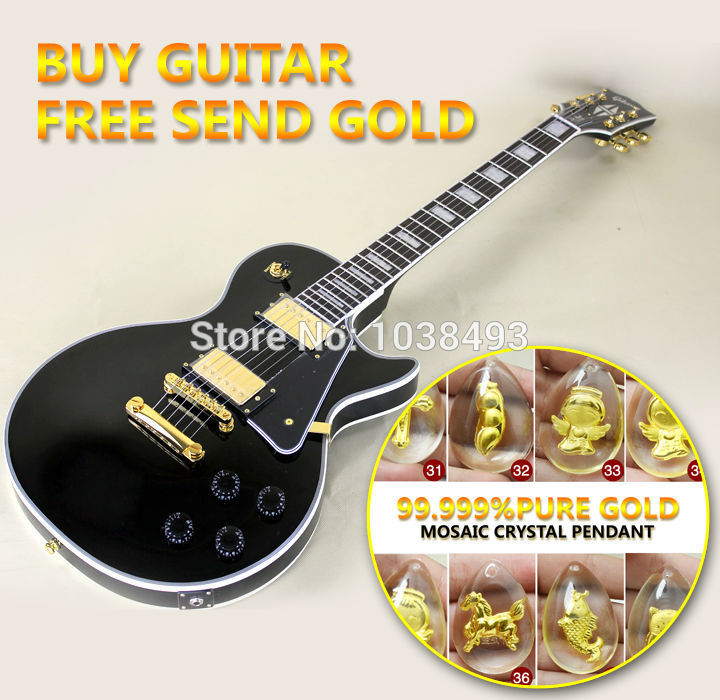 Wholesale - Custom Shop Black beauty Electric Guitar Black 2 Pickups Electric Guitar Free shipping(China (Mainland))
