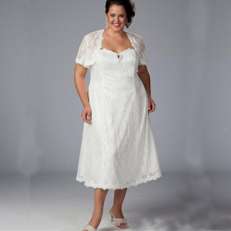 Plus size wedding dresses with lace jacket discount for Wedding dress jackets plus size