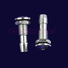 F85  Free Shipping 2 Pcs Aluminum Water Outlets Thread With O-ring Screws For RC Boat M6 New(China (Mainland))