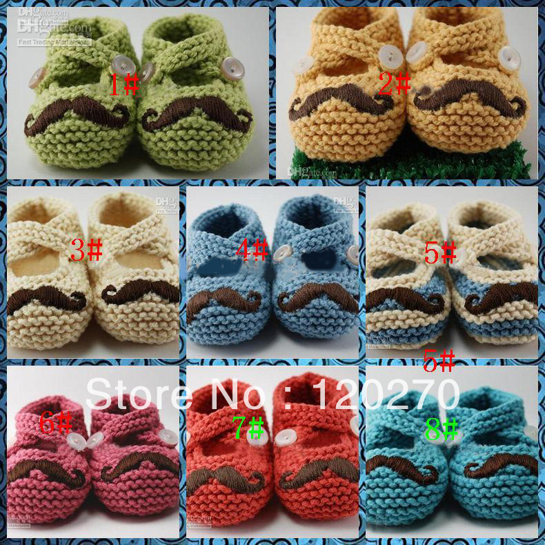 Spring Autumn Crochet Children Beard Shoes Baby Boys Girls Knitted Shoes Newborn Footwear Toddler Shoes Indoor Slipper For 0-12M(China (Mainland))