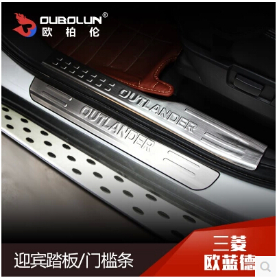 High quality!new Mitsubishi Outlander Welcome pedal Stainless steel door sill threshold stickers fit For Outlander!Free shipping<br><br>Aliexpress