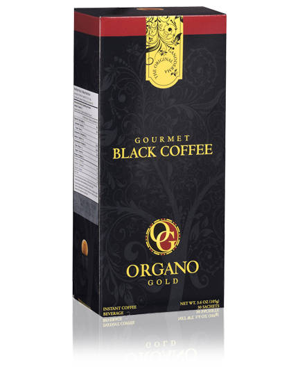 ORGANO GOLD BLACK Eugen organic ganoderma lucidum black coffee black coffee 105g free shipping