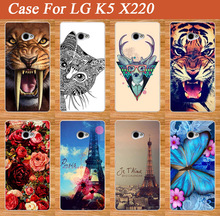 "Buy LG K5 Case Cover,Luxury DIY UV Painting Colored Tiger Owl Rose Eiffel Towers Hard PC Case LG K5 X220 Q6 5.0"" Cover for $1.50 in AliExpress store"