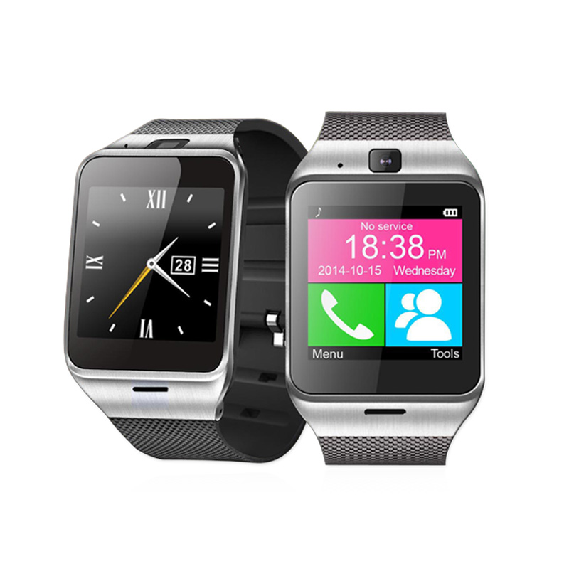 GV18 Smartwatch Bluetooth Sport Fitness Pedometer Camera Clock Bracelet Touch Screen Smart Watch Android Mobile Cell