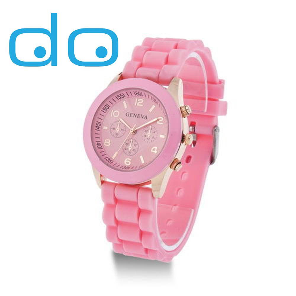 Гаджет  Hot sale  Luxury Fashion Designer Ladies sports brand silicone jelly watch Free shipping None Часы