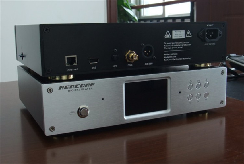 REDCORE Pure digital turntable player APE/FLAC/WAV/DTS/DSD/Hard disk/Mobile phone remote control Dual power supply mode(China (Mainland))