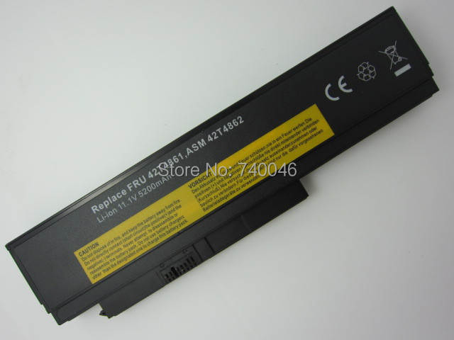 5200MAH replacement laptop battery forthinkpad X220 X220i X220s 42T4876,42T4901,42T4902,42Y4864<br><br>Aliexpress