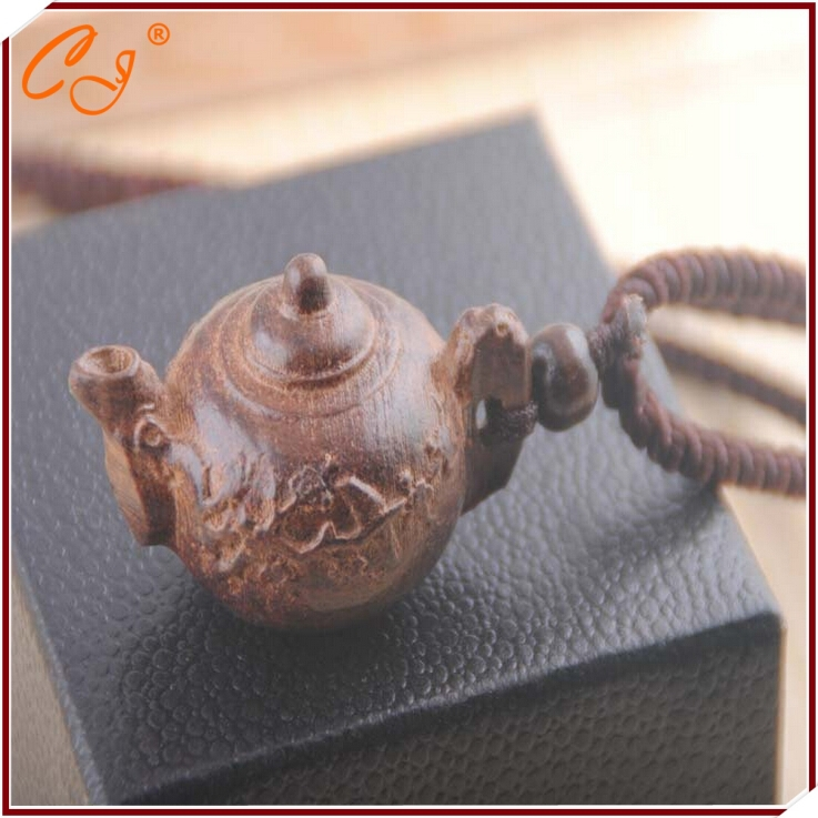 Cotton and linen manufacturers selling wooden necklace teapot long sweater chain accessories accessories(China (Mainland))