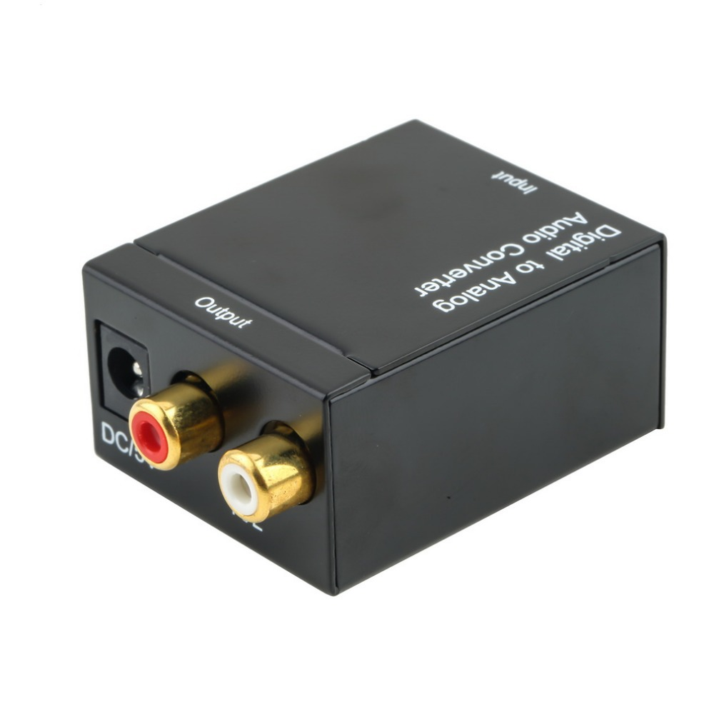 1pcs Digital Optical Coaxial Toslink Signal to Analog Audio Converter Adapter RCA(China (Mainland))