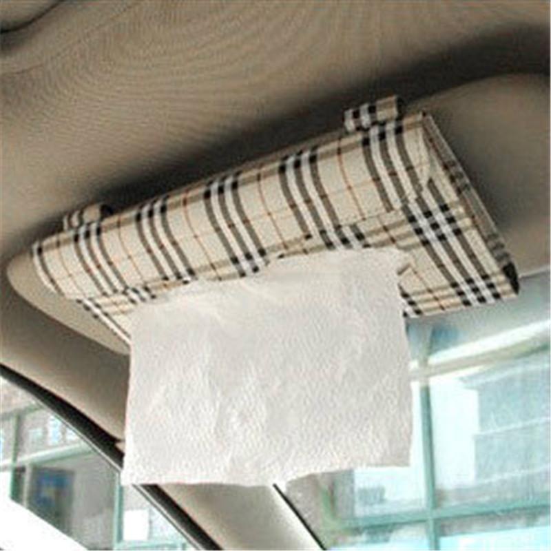 2pcs Creative Car Sun Visor Tissue Box Auto Accessories Cloth Napkin Creative Gifts(China (Mainland))