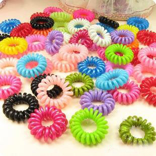 HOT 1 Telephone Cord Elastic Ponytail Holders Hair Ring Scrunchies Girl Rubber Band Tie chujie747 - Jackie TT Co.,Ltd store