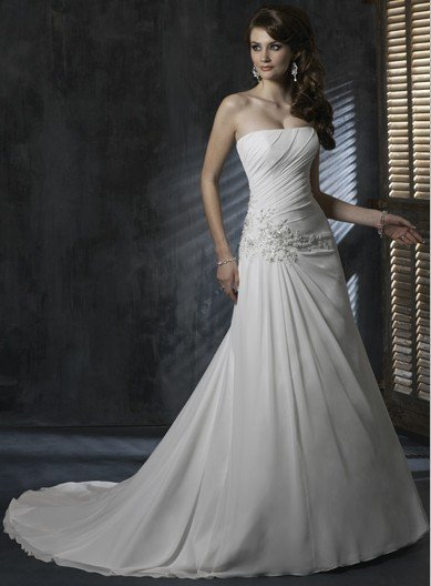 whitney housto wedding dress Free shippingn  AD2057